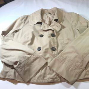 J Crew tan short pea jacket